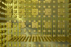 Gold tech background Stock Images