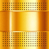 Gold template, metallic background Stock Images