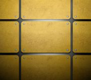 Gold template set of metal card background Stock Photos