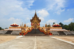 Gold temple. Gold temple in Thailand.It's very important Royalty Free Stock Photography