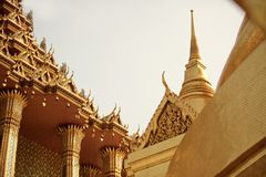 Gold Temple Architecture Royalty Free Stock Images