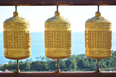 Gold temple bell Royalty Free Stock Photo