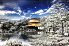 Gold temple japan Royalty Free Stock Images