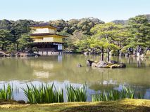 Gold Temple and lake Stock Photography