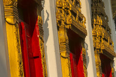 Gold temple ornaments in thai temple Royalty Free Stock Image