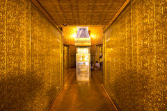 Gold temple in Yangon, Myanmar Stock Images