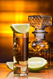 Gold tequila Stock Photography