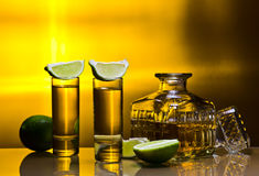 Gold tequila Royalty Free Stock Photo
