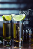 Gold tequila Royalty Free Stock Photography