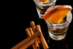 Gold tequila Stock Image