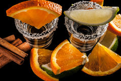 Gold tequila Royalty Free Stock Images