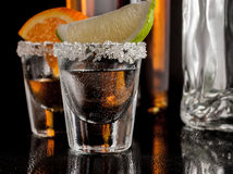 Gold tequila Royalty Free Stock Photos