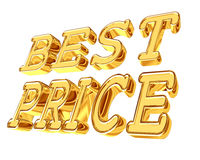 Gold text best price on white background Stock Photography