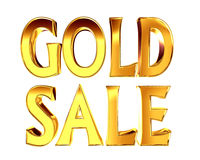 Gold text gold sale on a white background Stock Photography
