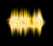 Gold text. The gold text graphics Royalty Free Stock Photography