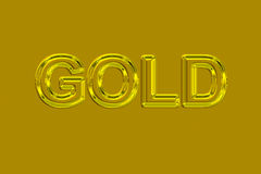 Gold (Text serie) Stock Photo