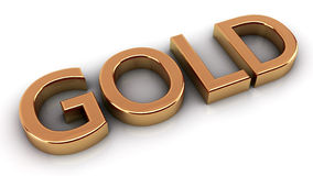 Gold text Royalty Free Stock Photos