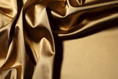 Gold textile Royalty Free Stock Images