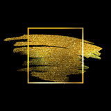 Gold Texture Paint Stain Illustration Stock Images