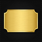 Gold texture plate. Vector illustration Stock Photos