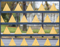 Gold Texture triangle Royalty Free Stock Photography