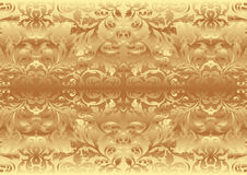 Gold texture. Yellow and gold texture with ornaments Royalty Free Stock Image