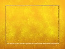 Gold Textured Background Frame Stock Image