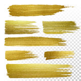 Gold textured paint strokes Royalty Free Stock Photography
