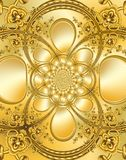 Gold Textured Plate Stock Photo