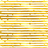 Gold textured seamless pattern of golden stripes Stock Images