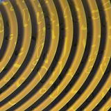 Gold textured spiral Stock Photo