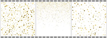 Gold textures on a white background. Golden explosion of stars a. Nd dots confetti. Golden abstract texture on a whites backgrounds. Design elements. Vector vector illustration