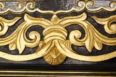 Gold thai art design Royalty Free Stock Image