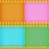 Gold Thai new style card board texture Stock Image