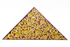 Gold Thai pattern in triangle shape Royalty Free Stock Photos