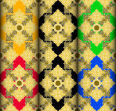 Gold Thai style complex pattern Stock Image