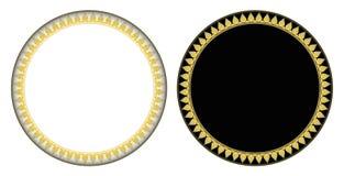 Gold Thai style Kra Jung circle frame vector illustration