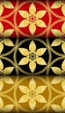 Gold Thai style Kra Jung pattern Royalty Free Stock Photo