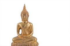 Gold Thailand Buddha. Gold Thailand Buddha on isolated background Royalty Free Stock Photos