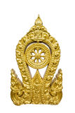 The Gold Thammachak Symbol of Buddhism Royalty Free Stock Image
