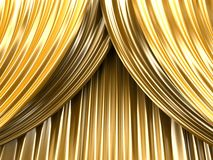 Gold theater curtain Royalty Free Stock Photos