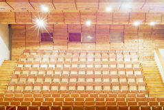 Gold theater Seats Royalty Free Stock Photo