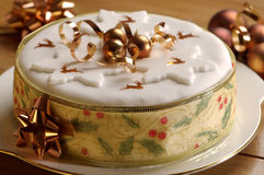 Gold Theme Christmas Cake Royalty Free Stock Image