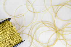 Gold Thread Royalty Free Stock Image