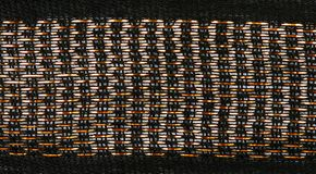 Gold thread loose weave fabric Stock Image