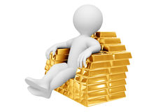 Gold throne Stock Photography