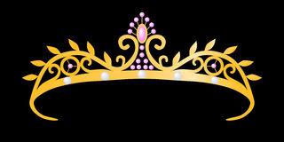 Gold tiara princess Royalty Free Stock Photo