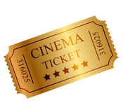 Gold ticket Royalty Free Stock Photography