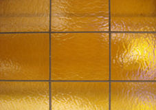 Gold Tile. Glass Tiles taken with a Canon XT Stock Image