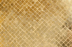 Gold tile background Stock Photography